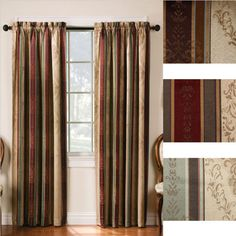 Are your windows begging for window treatments that are stylish and functional? Then, your windows will love the Tuscan Stripe Blackout Rod Pocket Curtain Panel Pair.   These functional panel curtains promise to reduce the amount you owe on your monthly energy bills. During the summer, they keep cool air in so you don't have to run your air conditioner as often. In the winter, they keep warm air in so that you don't have to run your heater as much. You may be able to reduce your bill by up…