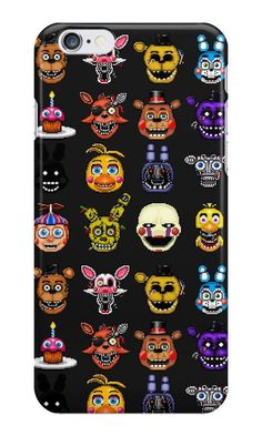 Five Nights at Freddy's Pixel Art For iPhone 6 5s 5 4S 4 Hard Case Cover #LANCase