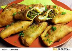 Taštičky na indický způsob recept - TopRecepty.cz Chicken Wings, Dip, Treats, Food, Sweet Like Candy, Salsa, Goodies, Essen, Meals