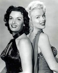 Jane Russell and Marilyn Monroe. <3