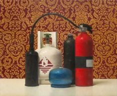 Jude Rae SL 145 Oil on linen. Collection of Christchurch Art Gallery Te Puna o Waiwhetu, purchased Reproduced with permission Classical Realism, Hazardous Materials, Still Life Art, Photorealism, Vanitas, Fire Extinguisher, Teaching Art, Art Gallery, Contemporary