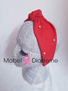 1ecf38c6e Mabel Diademe diadema turbante nudo en rojo con perlas accesorio pelo eventos  bodas juvenil niñas: