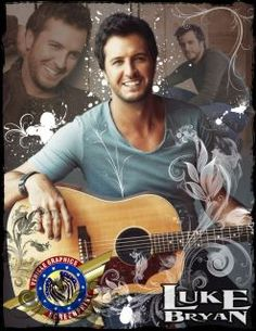 Hot Country Singers | D5138 Luke Bryan Hot Country Singer Music 32x24 Print POSTER