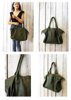 """Handmade Italian  Leather Messenger Bag """"Taglio Vivo """" di LaSellerieLimited su…"""
