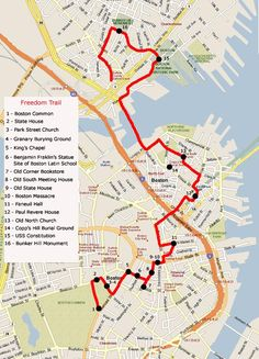 freedom trail map and description | freedom trail