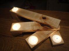 Holz Teelicht Halter. Kerze-Halter. Klapp-Kerze-Halter. Wodden