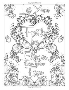 Inspirational Coloring Page Bible Verse Coloring Page, Love Coloring Pages, School Coloring Pages, Printable Adult Coloring Pages, Coloring Books, Coloring Sheets, Coloring Pages Inspirational, Cristiano, Hemingway Quotes