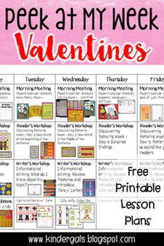 Peek at my week for Valentine's Day! Sharing all the great Valentine's Day lessons I do with my kindergarten students. Also great for preschool and early childhood teachers!