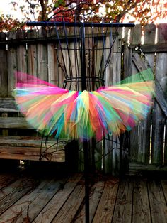 Rainbow / Rave Tutu Custom Tutu Available by ScarletRayneTutus, $20.00