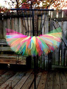 Rainbow / Rave Tutu Custom Tutu Available by ScarletRayneTutus, $20.00