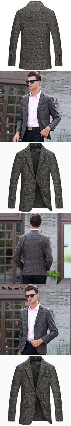 Mens Slim Fit Casual Plaid Blazer Jacket 2017 New Brand  Business Blazers MBL001