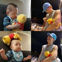The other baby probably having hundreds Pooh already! Kim Ji Won, Mobb, Show Me The Money, Foto Jungkook, Hanbin, Yg Entertainment, K Idols, Boyfriend Material, Future Husband