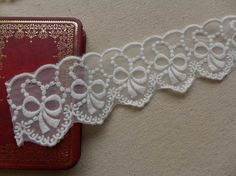 Lovely White Bow Lace Trim Wedding Decor Lace Doll by lacelindsay, $3.99
