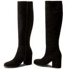 Čižmy SAGAN - 3109 Czarny Welur Knee Boots, Heeled Boots, Heels, Fashion, High Heeled Boots, Moda, Heel Boots, High Heel Boots, Shoes Heels