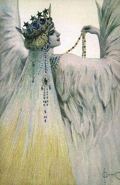 Sergei SOLOMKO 1917, femme à le coiffe