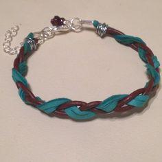 Leather Cord & Deerskin Lace Braided Bracelet