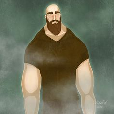 Zama Art on Behance #zama #zamart #illustration #cute #procreate #ipencil #art #illustrations #strong #strongman #beard