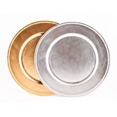$7.99 for 4. Silver Charger Plates, 4-Pack