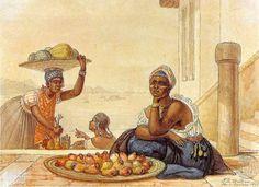 """""""Negra vendendo caju"""", J. B. Debret    :: Identidade 85"""
