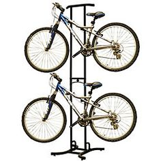@Overstock - Dual bike hanger is the best way to get your bike out of the way  Bike storage rack is adjustable for all types of bikes  Bicylce rack features soft plastic to prevent bike damagehttp://www.overstock.com/Sports-Toys/Freestanding-Dual-Bike-Storage-Rack-System/3645046/product.html?CID=214117 $56.05