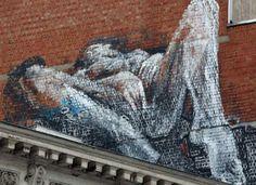Hete graffiti siert chique Louizalaan in Brussel Human Cell Structure, Beast Wallpaper, Amazing Street Art, Z Arts, Silhouette Art, Street Art Graffiti, Street Artists, Erotic Art, Female Art