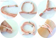 Pulseras trapillo – Women's jewelry – Top jewelry fashion Fabric Jewelry, Diy Jewelry, Beaded Jewelry, Jewelery, Women Jewelry, Fashion Jewelry, Jewelry Making, Love Bracelets, Jewelry Bracelets