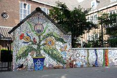 The Garden Wall Mosaic community project, Rotterdam, The Netherlands, www.facebook.com/thegardenwallmosaic