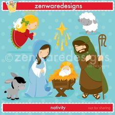 Merry Christmas!!! These cute little icons are ready for  the   merriment of the season - the true meaning of Christmas! Sweet nativity graphics for   the  perfect   cards, tote bags  and monogramming!  This set is wonderful    for party     invitations and  notepads! The simple lines are great for     embroidery    as well!