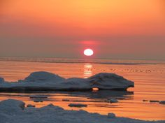 ice along Lake Ontario in Presquile Provincial Park.