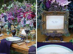 enchanted forest wedding inspiration in Elegant Wedding magazine