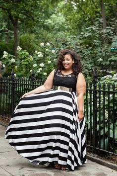 GarnerStyle | The Curvy Girl Guide: New York Stripes Got me stalking a girl on Etsy for this dress