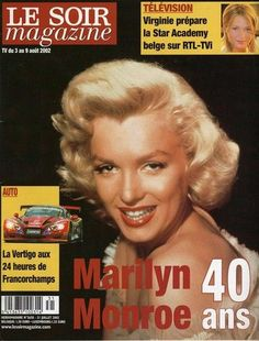 Le Soir Magazine 2002 (Francia) Marilyn Monroe