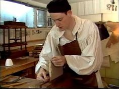 The Book Boys, John Demerritt and Dominic Riley, channel the spirits of bookbinders from the 19th Century.