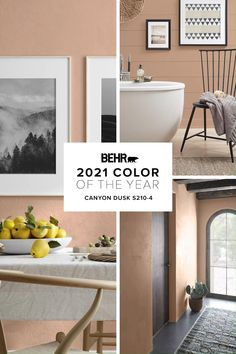 Bring comfort home with the BEHR® 2021 Color of the Year, Canyon Dusk S210-4. An earthy terracotta shade, Canyon Dusk is the perfect hue to bring a renewed peace and harmonious atmosphere to any space. Learn more about Canyon Dusk and how you can paint for cozy comfort at home.
