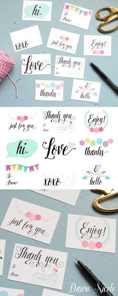 Free Printable Everyday Gift Tags   bydawnnicole.com