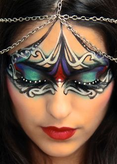 Lovely creative makeup