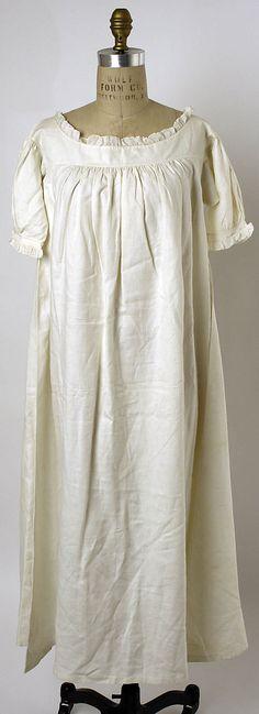 Nightgown  Date: 1830s Culture: American or European Medium: linen  Accession Number: C.I.37.45.32  Metropolitan Museum of Art