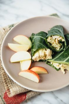 Collard Green Chicken Salad Wraps