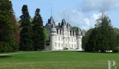 Patrice Besse Castles and Mansions of France is selling A century chateau with 18 ha of parklands in the Poitou region , Castles / chateaux in poitou-charentes Real Castles, French Castles, Beautiful Castles, French Houses, Limousin, Monuments, French Exterior, Poitou Charentes, Mansions For Sale