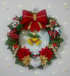 Guirlanda de Natal em feltro  Ateliê Sílvia Adami Encantos em feltro