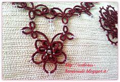 artlotus-handmade Needle Tatting, Tatting Lace, Tatting Necklace, Gems, Necklaces, Jewels, Patterns, Medium, My Style