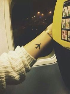 Fly airplane tattoo wanderer travel