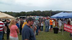 Crowds gather at Chantilly Farm in Floyd, VA for the 1st Annual Floyd Auto Fair!