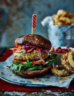 Vegan bunless falafel burger