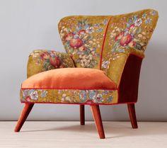 Retro-Style handgemachte Sessel gepolstert mit einem speziellen Gobelin-Stoff in gold Farbe. Der Sitzbereich und äußeren Teile sind mit Velour in Ziegel Farbe bedeckt. Die Buche-Holzbau und Moosgummi sind nagelneu. Das Gestell ist aus Brennofen getrocknet Hartholz gefertigt.  Dimension (cm): Breite 90 x Höhe 90 X Tiefe 85 cm; Sitzhöhe 45 cm Dimension (Zoll): Breite 35,4 x Höhe 35.8 X Tiefe 33,5; Sitzhöhe 17,7 Zoll  ** Adresse Lieferung Versand per Luftfracht von UPS ** Ihre Namen, Adresse…
