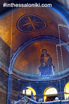 "● Paleo - Christian Byzantine Temple of Agia Sofia Thessaloniki Greece. The detailed ""Templon"" of Agia Sophia impresses most visitors.  ● Ναός Αγίας Σοφίας Θεσσαλονίκη - Το Τέμπλο του ναού έχει υπέροχες λεπτομέρειες που εκπλήσσουν!   ● #thessaloniki #byzantine #churches #agia #sofia #sophia #travel #greece #religious #tourism #christian"