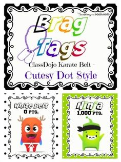 Use brag tags as an incentive for advancing to the next belt degree!Add your tags to a necklace or a metal beaded key chain.*Checkout my matching ClassDojo Karate Belt documents:Belt Advancement Chart:https://www.teacherspayteachers.com/Product/ClassDojo-Avatars-with-Karate-Belts-2016553Take-Home Tracker:https://www.teacherspayteachers.com/Product/Class-Dojo-Tracker-2023895Dog Tag Style Matching Brag…