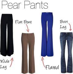 I'm sort of a pear and sort of an hour glass - I love boot leg jeans