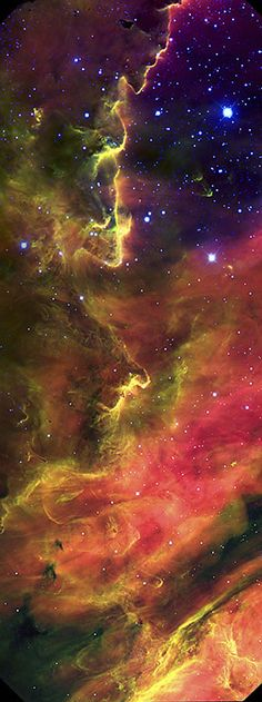 The Lagoon Nebula ~ captured in all its psychedelic glory by the Gemini Observatory in Hawaii. An all-time favorite of sky-watchers on both hemispheres, the Lagoon Nebula (Messier 8, or M8) is among the most striking examples of a stellar nursery in our neighborhood of the Milky Way galaxy. Located in the direction of the constellation Sagittarius in the southern Milky Way and visible in telescopes and binoculars its fuzzy glow reveals the type of chaotic environment where new stars are…