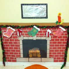 Preschool Winter decoration...fun..in the dramatic play area..scaled down